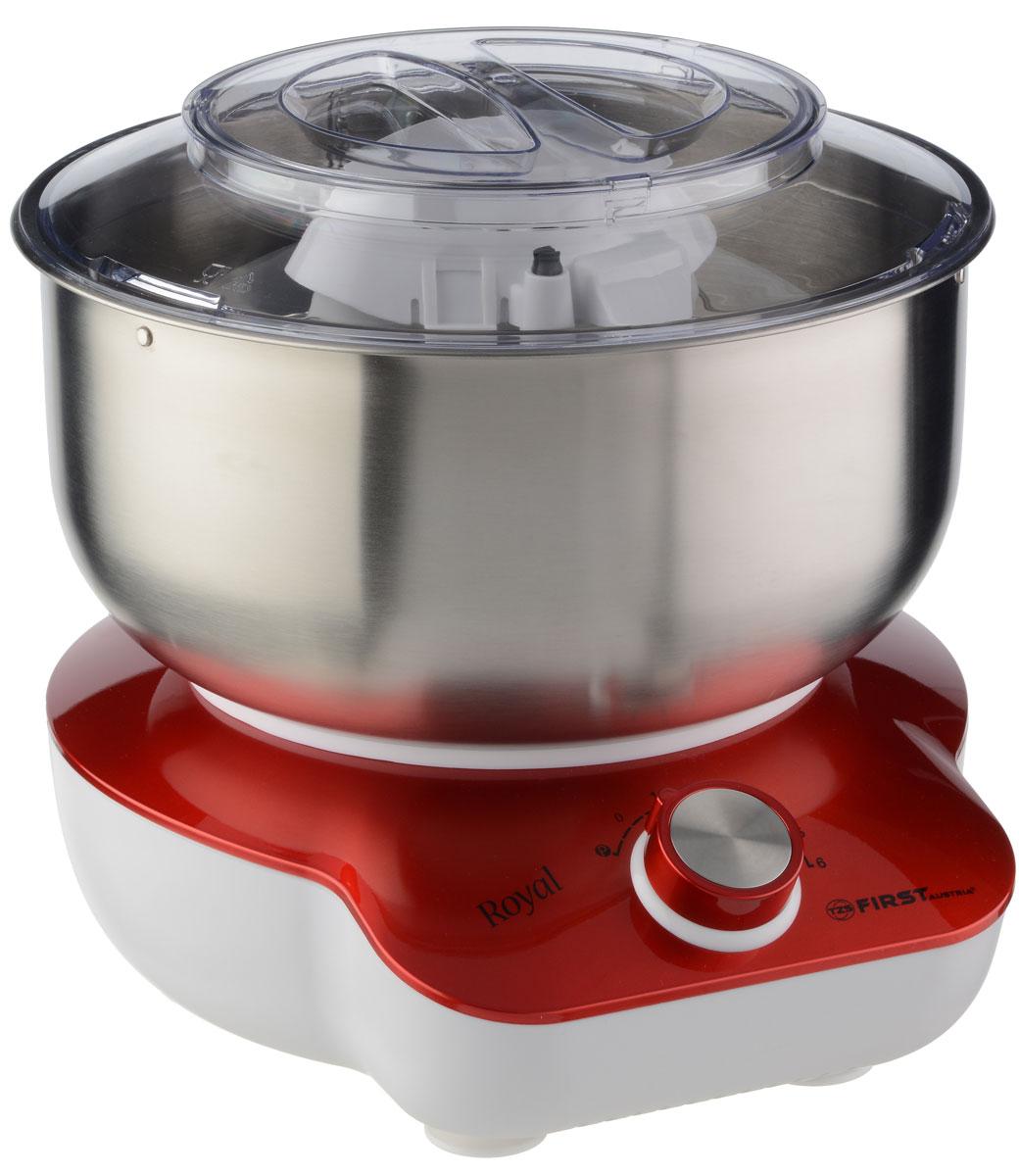 First FA-5259-2, Red миксер-тестомесFA-5259-2-REМиксер-тестомес First 5259-2 станет прекрасным помощником для любой хозяйки. С ним вы сможете готовить невероятно вкусные и аппетитные блюда, при этом сократив время их приготовления. Основным назначением прибора является изготовление различных видов теста и кремов. Тестомес качественно и быстро перемешивает различные ингредиенты, что дает возможность избежать комочков.First 5259-2 снабжен 5 л чашей из нержавеющей стали. 6 скоростей замешивания обеспечат наилучший результат.