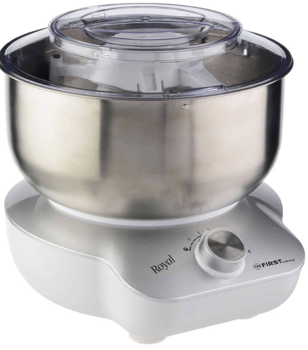 First FA-5259-2, Silver миксер-тестомесFA-5259-2-SIМиксер-тестомес First 5259-2 станет прекрасным помощником для любой хозяйки. С ним вы сможете готовить невероятно вкусные и аппетитные блюда, при этом сократив время их приготовления. Основным назначением прибора является изготовление различных видов теста и кремов. Тестомес качественно и быстро перемешивает различные ингредиенты, что дает возможность избежать комочков. First 5259-2 снабжен 5 л чашей из нержавеющей стали. 6 скоростей замешивания обеспечат наилучший результат.