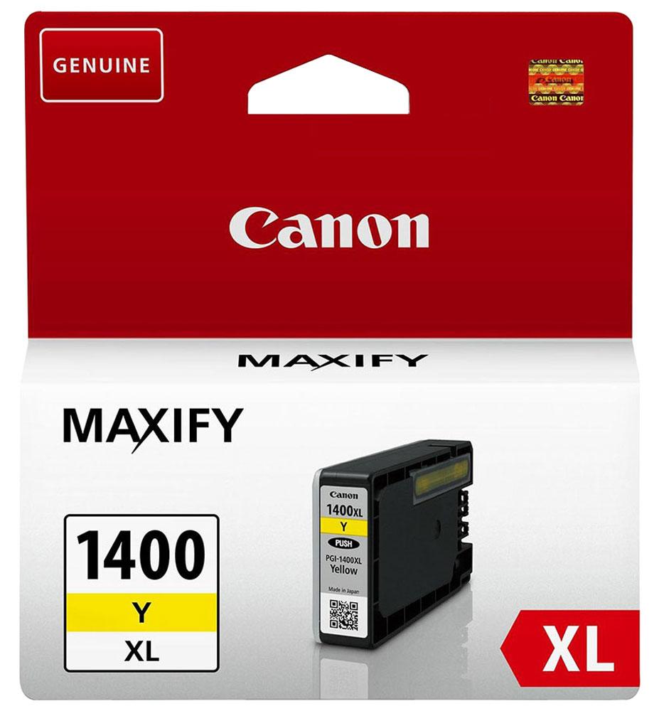 Canon PGI-1400XL, Yellow картридж для Maxify МВ2040/МВ23409204B001Оригинальный картридж Canon PGI-1400XL с оригинальными чернилами гарантирует профессиональный вид печатаемых документов и высокую производительность. Надежная печать без проблем. Точная цветопередача и быстрое высыхание. Для получения красивых и долговечных отпечатков сделайте выбор в пользу чернил Canon.
