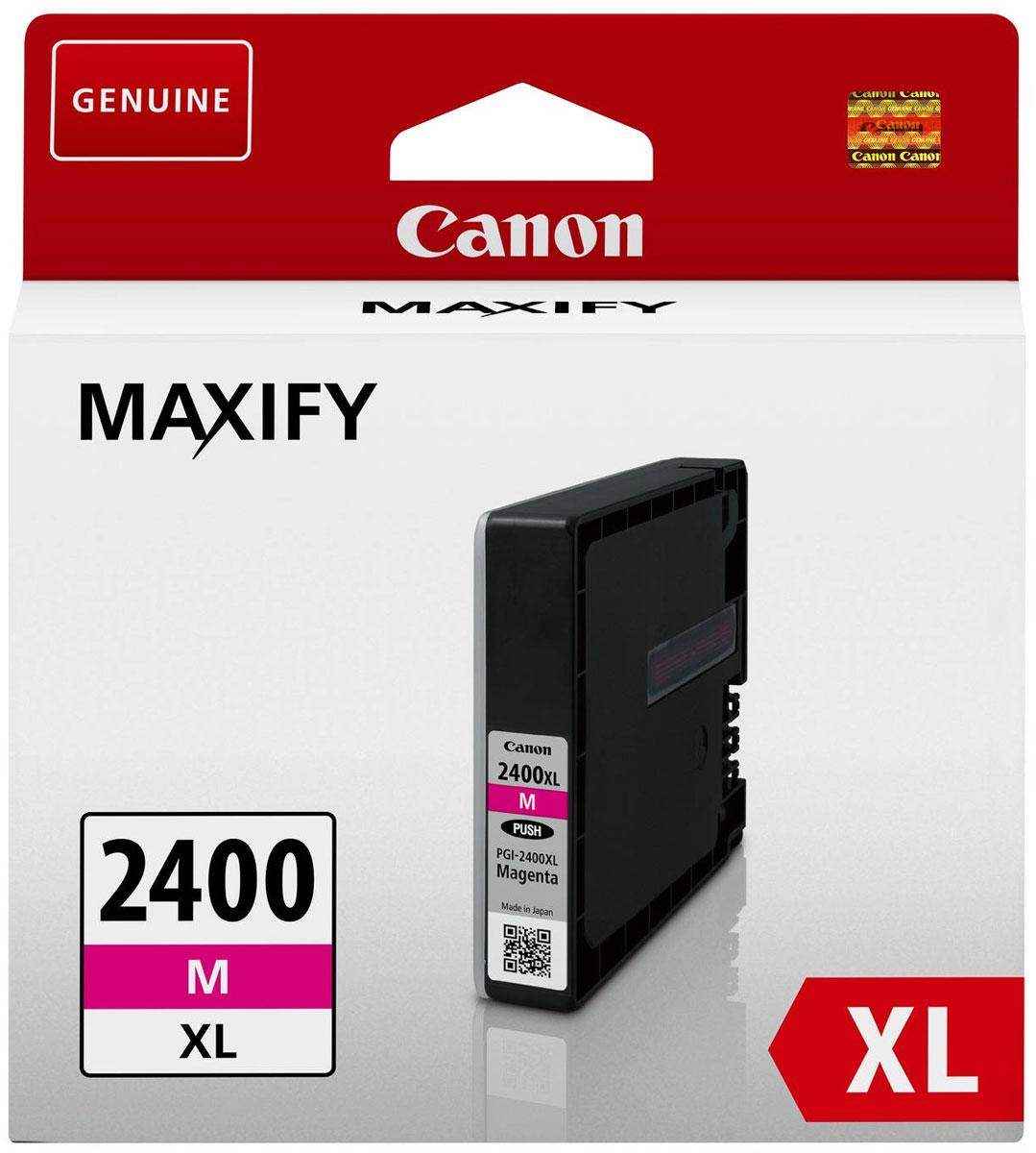 Canon PGI-2400XL, Magenta картридж для Maxify iB4040/МВ5040/МВ53409275B001Оригинальный картридж Canon PGI-2400XL с оригинальными чернилами гарантирует профессиональный вид печатаемых документов и высокую производительность. Надежная печать без проблем. Точная цветопередача и быстрое высыхание. Для получения красивых и долговечных отпечатков сделайте выбор в пользу чернил Canon.