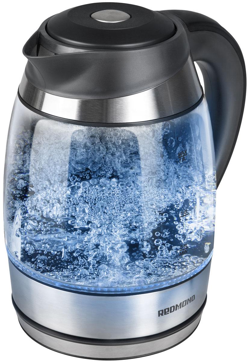 Redmond RK-G184D электрический чайникRK-G184DЭлектрический чайник Redmond RK-G184D — новая ультрастильная полупрозрачная модель, завораживающая своим внешним видом и своими возможностями. Этот кристально чистый прибор с разноцветной подсветкой, меняющейся в зависимости от температуры воды и эффектным корпусом из жаропрочного экономичного стекла впечатлит любого! Чайник RK-G184D с возможностью выбора температуры воды обладает вместительным объёмом 1,8 л, что идеально подойдёт для большой семьи. Высококачественный дисковый нагревательный элемент и возможность вращения устройства на 360° подарят дополнительный комфорт. Съёмный фильтр от накипи позволит наслаждаться более чистой водой. Redmond RK-G184D имеет важную функцию автоотключения при закипании, отсутствии воды и снятии с подставки. Дополнительно аппарат оснащён звуковым сигналом, срабатывающим при включении и отключении. Вы будете в восторге от своего нового чайника!
