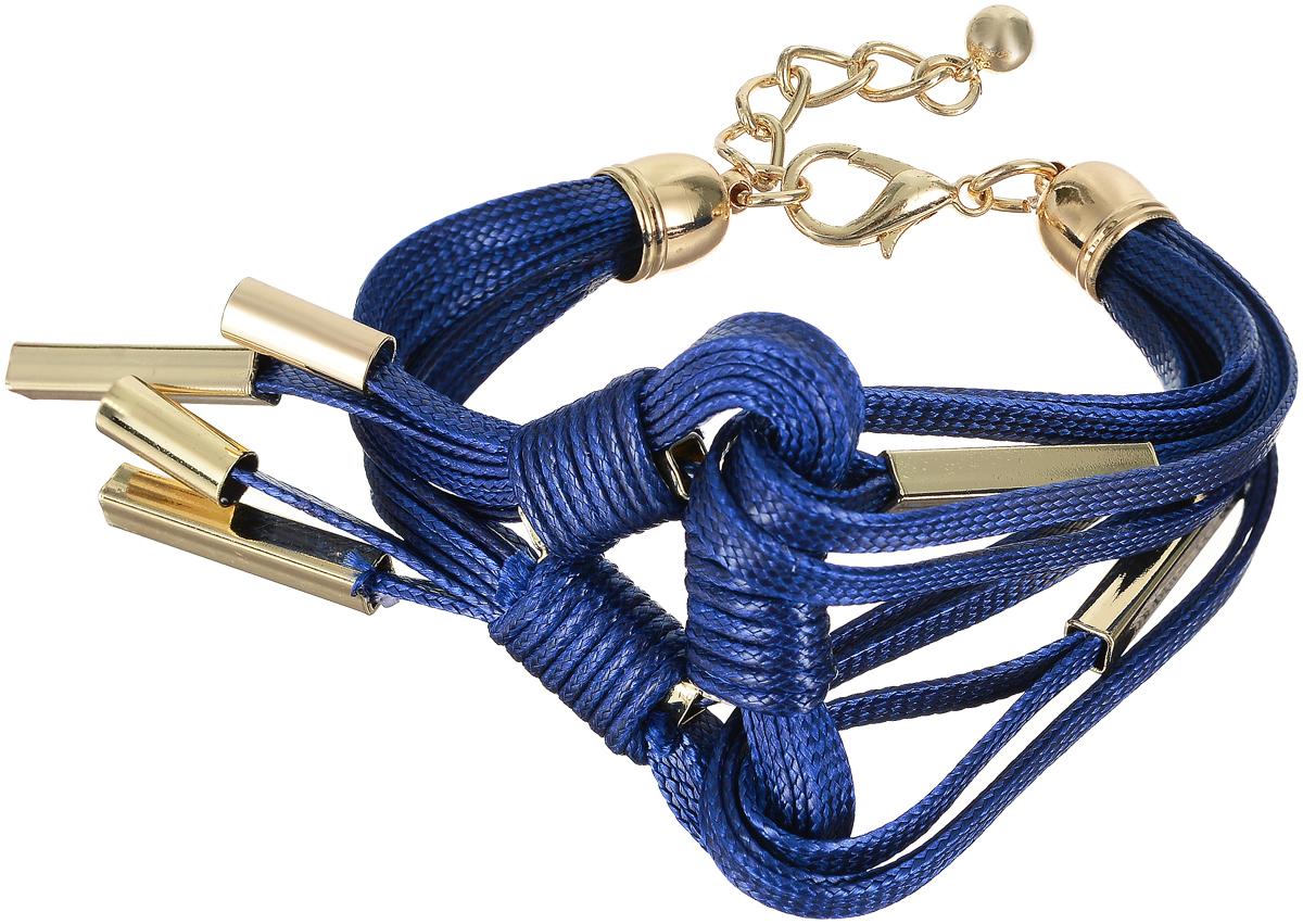 Браслет Art-Silver, цвет: синий. 141114-30Blue-566141114-30Blue-566Лаконичный женский браслет Art-Silver выполнен из бижутерного сплава, текстиля и золота 0,01 мкрн. Браслет застегивается при помощи застежки-карабина, благодаря которой его легко снимать и надевать. Необычный браслет блестяще подчеркнет ваш изысканный вкус и поможет внести разнообразие в привычный образ.