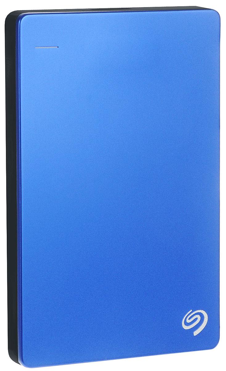 Seagate Backup Plus Portable Slim 1TB USB3.0, Blue (STDR1000202) внешний жесткий дискSTDR1000202Жизнь полна удивительных моментов, которые хочется запомнить навсегда. Портативный диск Backup Plus будет с вами везде, легко создавая резервные копии после подключения с автоматической настройкой. Поэтому ваши памятные моменты всегда будут защищены - независимо от того, где и что может случиться. Подумайте, сколько фотографий вы опубликовали на Facebook или Flickr. Теперь их можно легко загрузить прямо на диск Backup Plus, чтобы еще больше фрагментов вашей жизни были в безопасности и хорошем состоянии. Объем буфера: 16 Мб Пропускная способность интерфейса: 5 Гбит/с