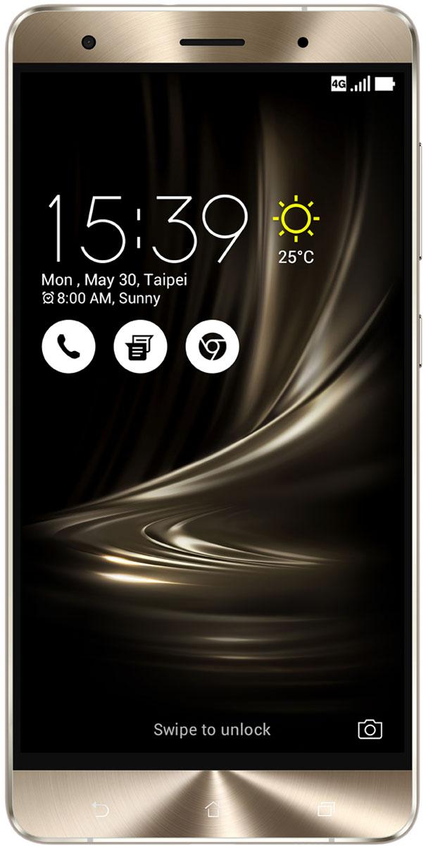 ASUS ZenFone 3 Deluxe ZS570KL, Silver (90AZ0164-M00130)90AZ0164-M00130Великолепный смартфон ASUS ZenFone 3 Deluxe ZS570KL, в котором безупречное качество изготовления и техническое совершенство приводят к рождению уникальной формы – тонкого цельнометаллического корпуса без каких-либо пластиковых вставок для антенн, а внутри – 23-мегапиксельная камера с системой тройной автофокусировки TriTech и 6 гигабайт оперативной памяти.ZenFone 3 Deluxe обладает стильным, полностью металлическим корпусом без диэлектрических вставок на задней крышке, изящество которого подчеркивается эффектными гранями, выполненными с помощью алмазной резки.ZenFone 3 Deluxe – это чудо современных технологий, которое рождается в результате сложного производственного процесса, включающего в себя 240 этапов. Прецизионная фрезеровка заготовки для получения прочного и при этом тонкого корпуса, полировка металлической рамки методом пескоструйной обработки – каждый этап представляет собой еще один шаг на пути к техническому совершенству, которым является новый смартфон ASUS.Все, что вы увидите на 5,7-дюймовом экране смартфона ZenFone 3 Deluxe, будет таким же реалистичным, как сама реальность, ведь он изготовлен по технологии Super AMOLED, наделяющей его невероятной яркостью, обладает высоким разрешением Full-HD (1920x1080 пикселей), потрясающей контрастностью (3 000 000:1) и расширенным цветовым охватом (более 100% цветового пространства NTSC) – и все это дополнено интеллектуальными алгоритмами обработки изображения (технология ASUS Tru2Life). Благодаря очень тонкой рамке (всего 1,3 мм), размер дисплея составляет целых 79% от размера всей передней панели устройства, а функция работы в спящем режиме позволяет выводить на экран важную информацию при минимальном энергопотреблении.В ZenFone 3 Deluxe применяется высокопроизводительный процессор Qualcomm Snapdragon 820, изготовленный по современнейшей технологии 14 нм. Потребляя меньше электроэнергии, этот чип обеспечивает более высокую скорость работы прилож