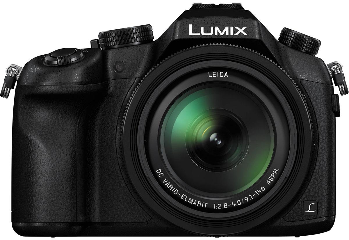 Panasonic Lumix DMC-FZ1000 4K, Black цифровая фотокамераDMC-FZ1000EEPanasonic Lumix DMC-FZ1000 4K - флагманская полупрофессиональная фотокамера с потрясающим качеством изображения.Великолепные снимки, сделанные с помощью большого 1-дюймового сенсора, и новый объектив передают бесконечную глубину и солнечное тепло природы. 16-кратный оптический зум этой камеры поможет снять все — от маленьких птичек на ветках деревьев до животных на горизонте. Вы можете фотографировать или снимать видео в сверхвысоком разрешении 4К.Специально разработанный объектив Leica DC VARIO-ELMARIT имеет 5 асферических линз, изготовление которых стало возможным благодаря уникальной технологии отливки асферических линз компании Panasonic. В сочетании с большом сенсором MOS этот объектив позволяет снимать с небольшой глубиной резкости и выразительным эффектом размытия заднего планаС помощью камеры DMC-FZ1000 можно снимать видео с разрешением 4К (OFHD 4К: 3S40 х 2160,25 к/с в формате МР4). При этом вы получаете новые возможности для творчества: можно вырезать 8-мегапиксельные фотоизображения 3840 х 2160 из отснятого видеоматериала в формате видео 4К, и получить кадры, которые невозможно снять при обычной фотосъемке.Видеозаписи сопровождаются высококачественным реалистичным стереозвуком в формате Dolby Digital. Стерео зум-микрофон оснащен системой шумоподавления, а также функцией автоматическою ветроподавления, которая блокирует большую часть шума от фонового ветра.Камера оснащена видоискателем OLED LVF (Live View Finder) 2359 тыс. точек, который обеспечивает точное кадрирование и великолепную картинку даже при большом увеличении и при ярком солнечном свете. Дисплей обеспечивает высокоскоростной отклике минимальной задержкой, четко изображение с высокой контрастностью 10000:1 для великолепного воспроизведения цвета. ЖК-экран с большими углами обзора и разрешением 921 тыс. точек позволяет осуществлять точное кадрирование.С помощью приложения Panasonic Image Арр можно использовать смартфон или планше