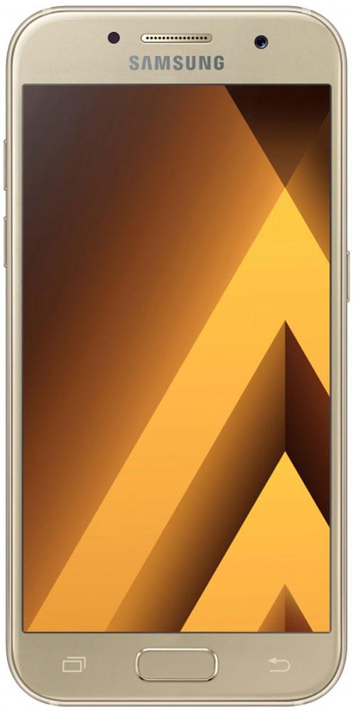 Samsung SM-A320F Galaxy A3 (2017), GoldSM-A320FZDDSERСовременный минималистичный корпус из 3D-стекла и металла, а также 4,7-дюймовый экран HD sAMOLED - все это отличительные черты Samsung Galaxy A3 (2017).Плавные линии корпуса, отсутствие выступов камеры, утонченная и элегантная отделка позволяют получить настоящее удовольствие от использования смартфона.Будьте законодателями трендов, а не просто следуйте им. Стильные цветовые решения идеально гармонируют с корпусом из стекла и металла, создавая динамичный и цельный образ. Четыре модных цвета на выбор превосходно дополнят ваш стиль.Запечатлите памятные моменты. Благодаря высокому разрешению основной камеры в 13 Mп фотографии всегда будут яркими и красочными.Вместе с Galaxy A3 (2017) почувствуйте себя профессиональным фотографом. Наличие широкого выбора фильтров позволяет подойти к процессу съемки более креативно. Теперь каждая фотография будет особенной.Благодаря высокому разрешению фронтальной камеры в 8 Mп фотографии всегда будут красочными и детализированными. Новая Smart-кнопка сделает процесс съемки еще более простым - теперь вы сами можете выбирать расположение кнопки затвора.Стандарт защиты от воды и пыли IP68 позволяет комфортно использовать смартфоны Galaxy A3 (2017) в любых условиях - будь то дождь или бассейн.Наслаждайтесь играми или просмотром видео еще дольше благодаря увеличенному объему аккумулятора.Разделяете работу и личную жизнь, удаляете старый контент, так как недостаточно памяти? Выбирайте то, что удобно вам: слот для 2-ой SIM-карты или карты памяти объемом до 256 ГБ.С функцией Always On Display вся актуальная информация всегда на экране. Просматривайте время, события в календаре и непрочитанные уведомления даже если смартфон находится в спящем режиме.Храните конфиденциальную информацию в защищенной папке. Благодаря безопасной среде KNOX вы можете быть уверены, что ваша личная информация не попадет в чужие руки.Простое подключение. Симметричный разъем кабеля USB type-C удобно использовать любой 