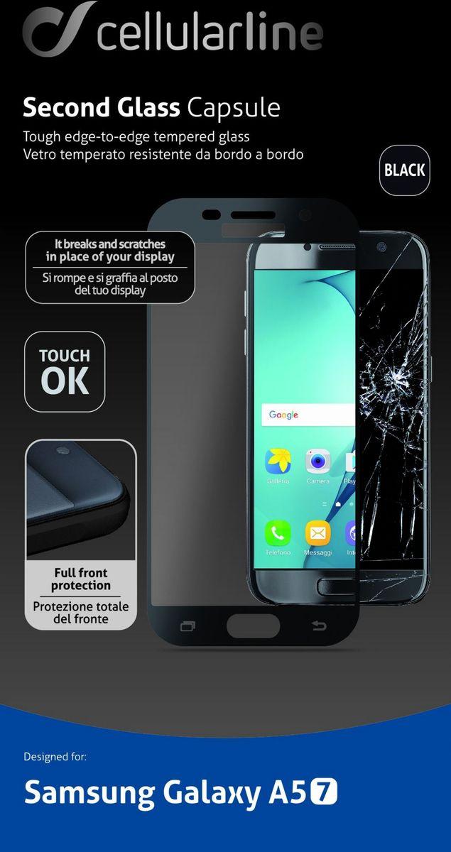 Cellular Line Second Glass защитное стекло для Galaxy A5 (2017), BlackTEMPGCABGALA517KCellular Line Second Glass - прочное защитное стекло для вашего смартфона. Обеспечивает более высокий уровень защиты по сравнению с обычной пленкой. При этом яркость и чувствительность дисплея не будут ограничены. Препятствует появлению воздушных пузырей и надежно крепится на экране устройства.