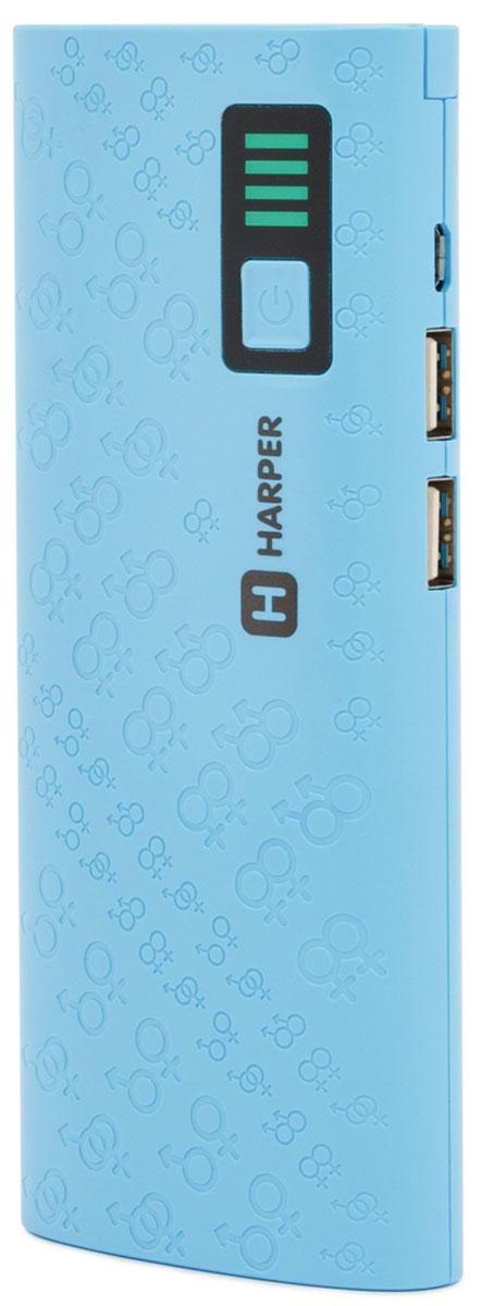 Harper PB-10007, Blue внешний аккумулятор (10000 мАч)