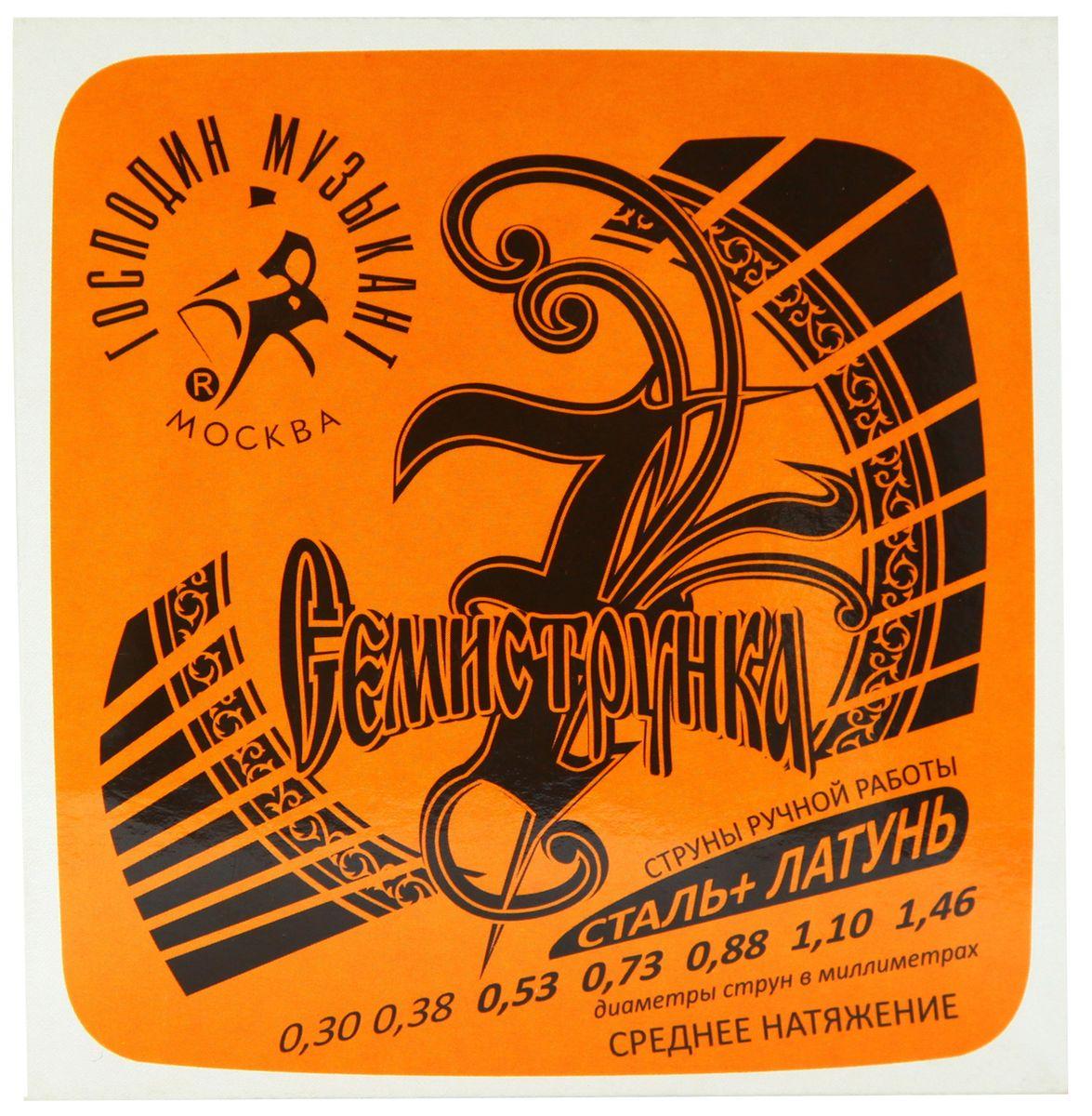 Господин Музыкант R-12 Семиструнка, Gray струны для акустической гитары