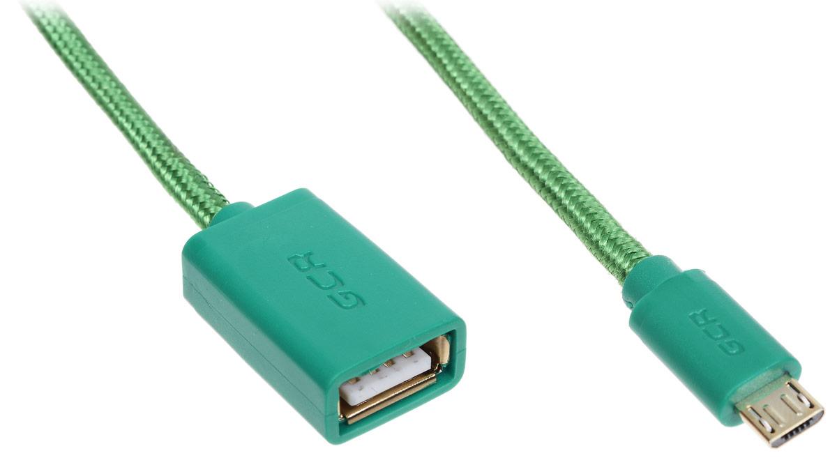 Greenconnect Russia GCR-MB7AF-BB2SG, Green адаптер переходник OTG (0,5 м)GCR-MB7AF-BB2SG-0.5mС помощью Greenconnect Russia GCR-MB7AF-BB2SG вы сможете подключить любые устройства, имеющие разъем USB к порту microUSB OTG (On-The-Go) вашего девайса. Экранирование кабеля позволяет защитить сигнал при передаче от влияния внешних полей, способных создать помехи.OTG (On-The-Go) функция позволяет синхронизировать периферийные USB-устройства с портативным девайсом напрямую - без необходимости подключения к ПК.