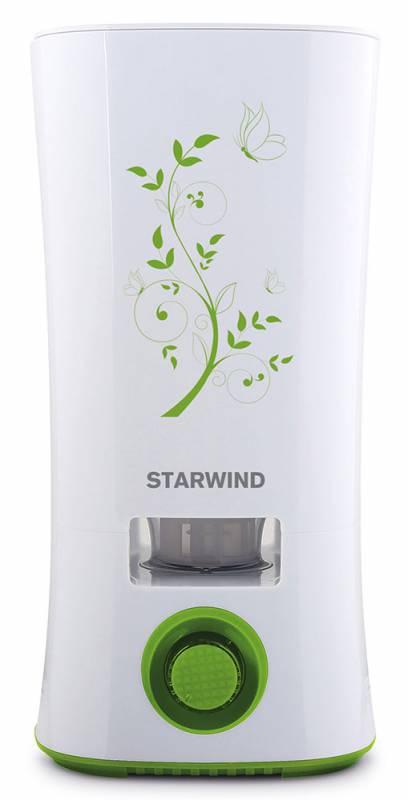Starwind SHC4210, White Green увлажнитель воздухаSHC4210Starwind SHC4210 - это ультразвуковой тип увлажнителя, распыляющий воздух без его нагревания. Кроме того, он еще и ароматизирует воздух, освежая его и делая приятно пахнущим. Ароматические масла, которые вы можете использовать в устройстве, способны не только освежить воздух, но и обогатить полезными веществами. Starwind SHC4210 работает при мощности 28 Вт и имеет объемный резервуар 2 л. При необходимости, вы можете регулировать испарение воздуха, уменьшая или увеличивая его испарение. Если вода будет подходить к концу, удобный встроенный индикатор сообщит вам об этом. Но вы можете не беспокоиться, что пропустите оповещение, ведь для максимальной безопасности устройства и экономии электроэнергии, при полном окончании воды устройство просто автоматически отключится.