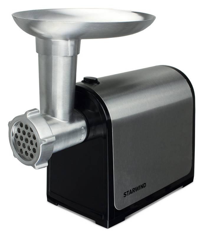 Starwind SMG3553, Black Silver мясорубкаSMG3553Мясорубка Starwind SMG3553 - универсальное устройство для переработки мяса и овощей в фарш. Она оснащена металлическим лотком и декоративной накладкой на корпус. Данная модель обладает максимальной мощностью 1800 Вт. Устройство имеет функцию реверса, которая помогает изъять застрявшие жилки, мешающие работе мясорубки. Starwind SMG3553 станет надежным помощником на любой кухне.