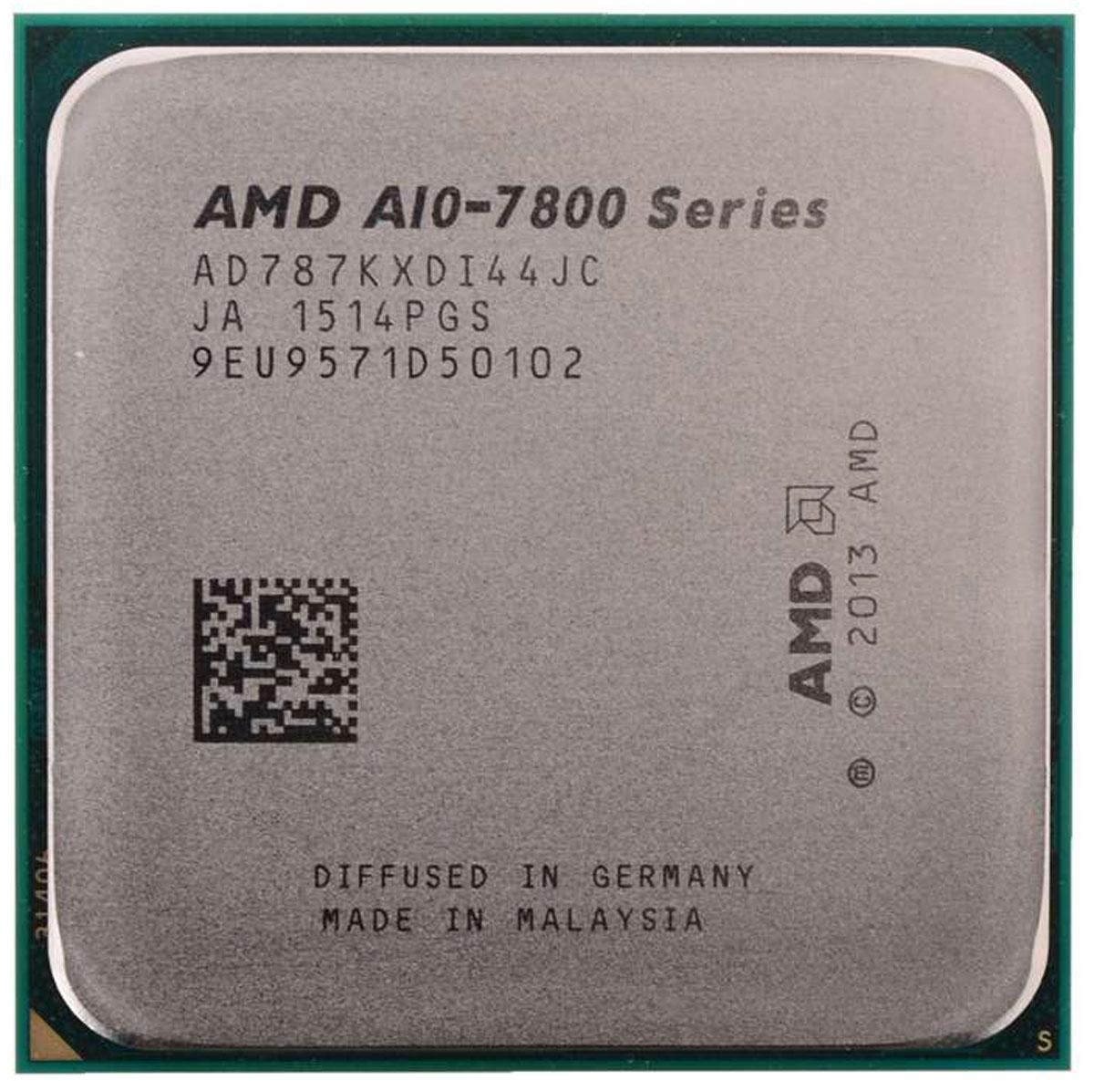 AMD A10-7870K процессор (AD787KXDI44JC)AD787KXDI44JCПроцессор AMD A10-7870K со встроенным видеоядром Radeon R7 подойдет для настольных персональных компьютеров, основанных на платформе AMD. Данная модель имеет разблокированный множитель, а также встроенный двухканальный контроллер памяти DDR3.