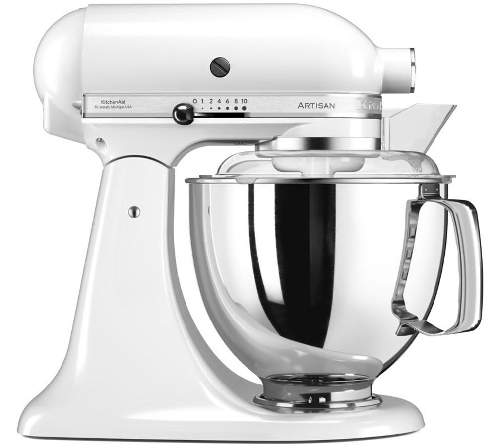 KitchenAid Artisan, White миксер планетарный (5KSM175PSEWH)