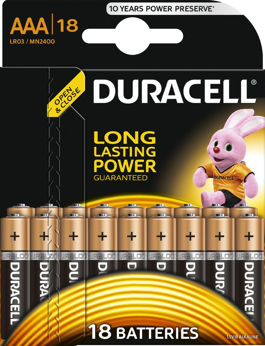 Батарейка Duracell LR03-18BL Basic, 18 шт81546741