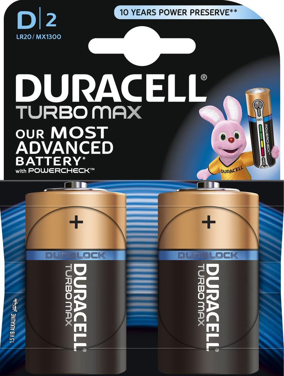Батарейка Duracell LR20-2BL Turbo, 2 шт81529786