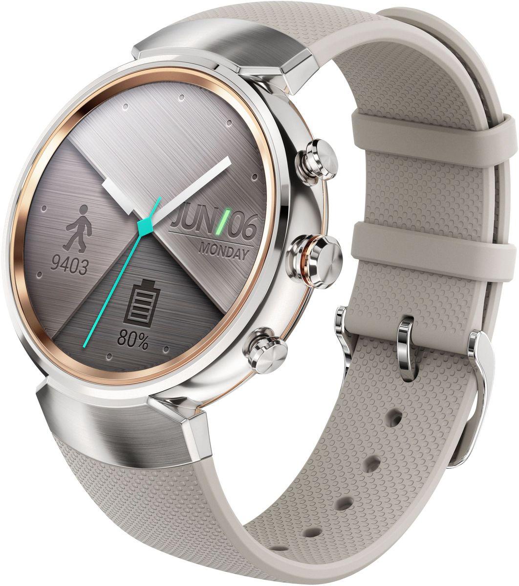 ASUS ZenWatch 3 WI503Q, Silver смарт-часыWI503Q-2RBGE0013ASUS ZenWatch 3 - это современное цифровое устройство, выполненное в соответствии с давними традициями часового искусства из высококачественных материалов и с вниманием к каждой детали. Эти часы умеют делать гораздо больше, чем просто показывать время, а благодаря широким возможностям по персонализации их интерфейса вы легко можете настроить их по своему вкусу. Длительное время автономной работы и технология быстрой подзарядки аккумулятора делают ASUS ZenWatch 3 по-настоящему мобильным устройством, которое всегда будет готово к работе. Своим внешним видом ASUS ZenWatch 3 ближе к традиционным часам, чем к современным цифровым гаджетам. Их стильный дизайн вдохновлен образом солнечного затмения, а широчайшая функциональность реализована с безупречным мастерством. Корпус часов ZenWatch 3 изготовлен из ювелирной нержавеющей стали марки 316L, которая наделяет их не только превосходным внешним видом, но и долговечностью, ведь ее прочность на 82% выше по...