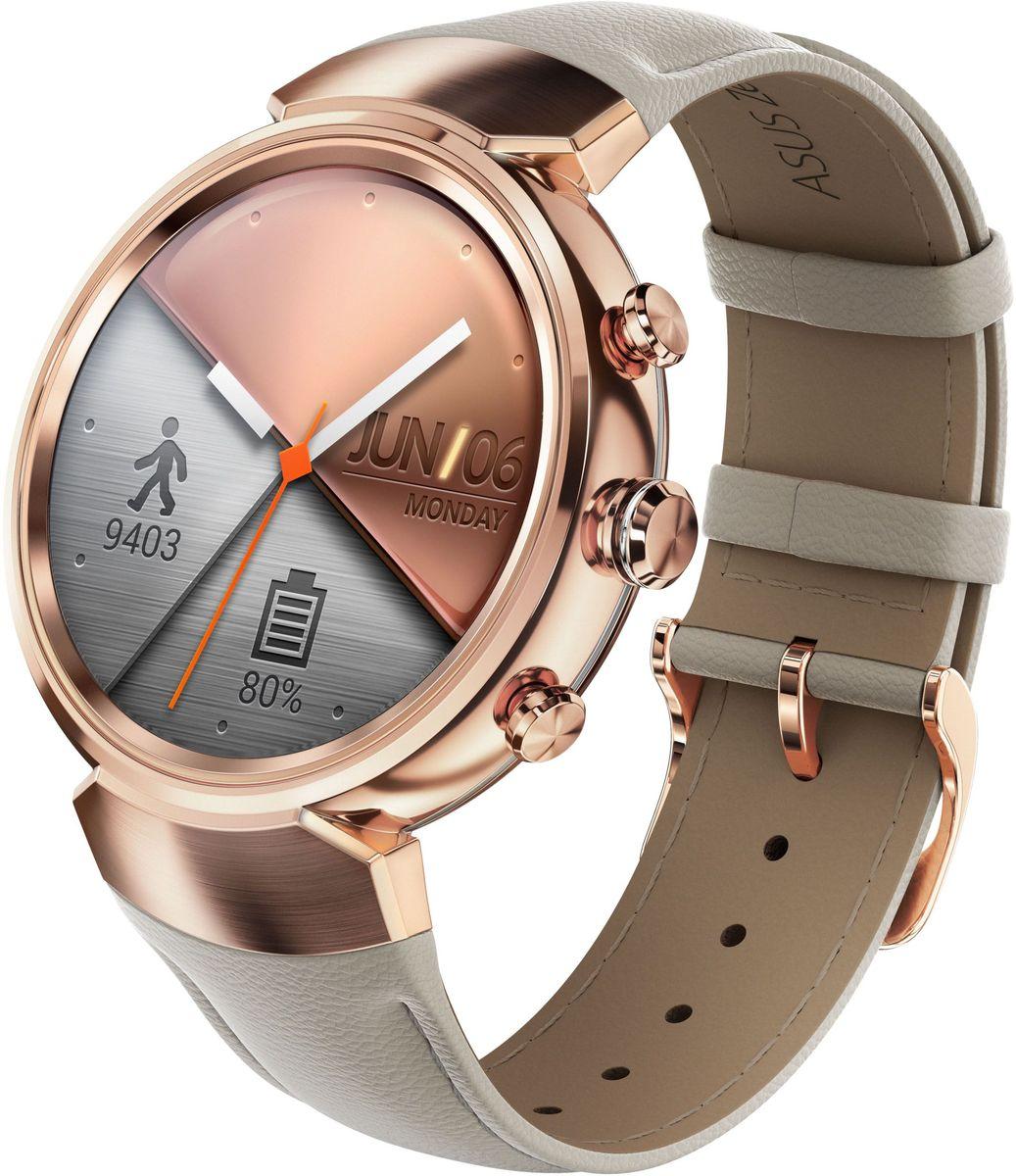 ASUS ZenWatch 3 WI503Q, Rose Gold смарт-часыWI503Q-3LBGE0005ASUS ZenWatch 3 - это современное цифровое устройство, выполненное в соответствии с давними традициями часового искусства из высококачественных материалов и с вниманием к каждой детали. Эти часы умеют делать гораздо больше, чем просто показывать время, а благодаря широким возможностям по персонализации их интерфейса вы легко можете настроить их по своему вкусу. Длительное время автономной работы и технология быстрой подзарядки аккумулятора делают ASUS ZenWatch 3 по-настоящему мобильным устройством, которое всегда будет готово к работе. Своим внешним видом ASUS ZenWatch 3 ближе к традиционным часам, чем к современным цифровым гаджетам. Их стильный дизайн вдохновлен образом солнечного затмения, а широчайшая функциональность реализована с безупречным мастерством. Корпус часов ZenWatch 3 изготовлен из ювелирной нержавеющей стали марки 316L, которая наделяет их не только превосходным внешним видом, но и долговечностью, ведь ее прочность на 82% выше по...