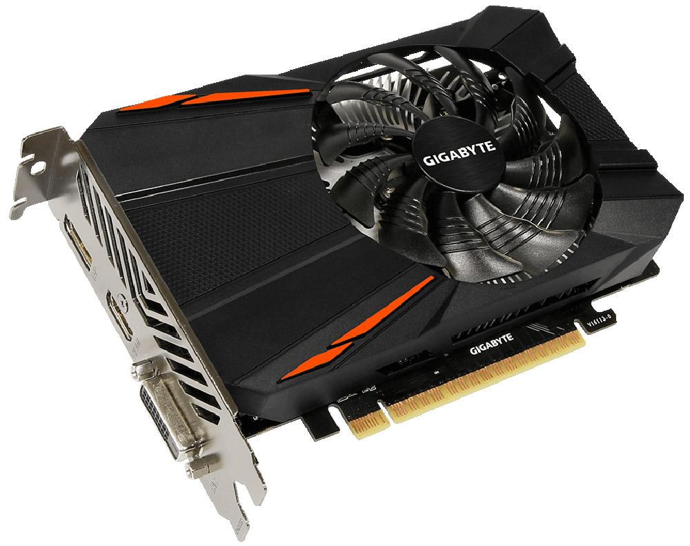 Gigabyte GeForce GTX 1050 D5 2G 2GB видеокартаGV-N1050D5-2GDБудьте готовы к игровым сражениям с Gigabyte GeForce GTX 1050 D5 2G. Эта видеокарта обеспечивает высокую производительность, добавляя продвинутые игровые технологии (NVIDIA GameWorks) и самую продвинутую игровую экосистему (GeForce Experience). Реализовано с помощью новой архитектуры NVIDIA Pascal, Geforce GTX 1050 - квантовый скачок в эффективности производительности и энергопотребления. Технология NVIDIA GameWorks поддерживает последние требования современных мониторов, включая VR, мониторы с ультра высоким разрешением, также обеспечивает плавный игровой процесс, кинематографический опыт, возможность захвата изображения 360 даже в VR. Откройте для себя новое поколение VR, с низким показателем задержки, наушниками последнего поколения, благодаря технологии NVIDIA VRWorks. VR аудио (звуковые эффекты), реалистичная графика и физика предметов, позволяют вам прочувствовать и услышать каждый момент. Система охлаждения оснащена...