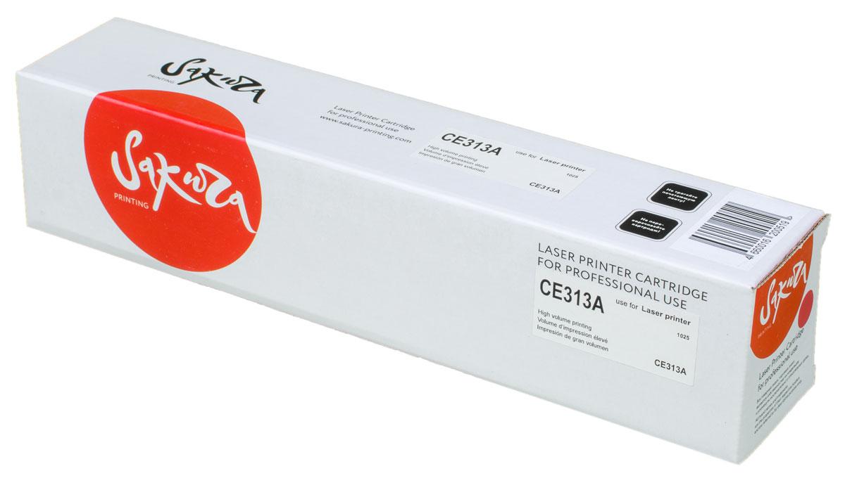 Sakura CE313A, Magenta тонер-картридж для HP LaserJet Pro CP1025/CP1025NWSACE313AТонер-картридж Sakura CE313A для лазерных принтеров HP LaserJet Pro CP1025/CP1025NW является альтернативным решением для замены оригинальных картриджей. Он печатает с тем же качеством и имеет тот же ресурс, что и оригинальный картридж. В картриджах компании Sakura используется химический синтезированный тонер, который в отличие от дешевого тонера из перемолотого полимера, не царапает, а смазывает печатающий вал, что приводит к возможности многократных перезаправок картриджей. Такой подход гарантирует долгий срок службы принтера, превосходное качество и стабильность печати. Тонер-картриджи Sakura производятся при строгом соответствии стандартам ISO 9001 и ISO 14001, что подтверждено международными сертификатами.