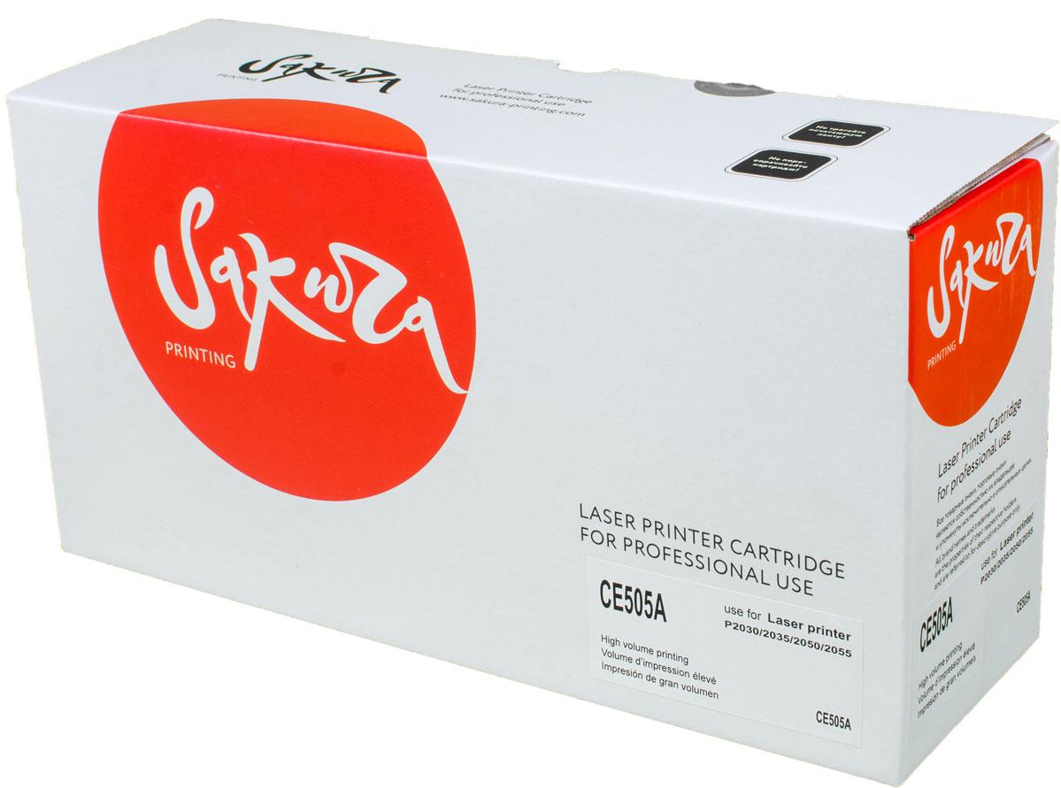 Sakura CE505A, Black тонер-картридж для HP LaserJet P2030/P2035/P2050/P2055SACE505AТонер-картридж Sakura CE505A для лазерных принтеров HP LaserJet P2030/P2035/P2050/P2055 является альтернативным решением для замены оригинальных картриджей. Он печатает с тем же качеством и имеет тот же ресурс, что и оригинальный картридж. В картриджах компании Sakura используется химический синтезированный тонер, который в отличие от дешевого тонера из перемолотого полимера, не царапает, а смазывает печатающий вал, что приводит к возможности многократных перезаправок картриджей. Такой подход гарантирует долгий срок службы принтера, превосходное качество и стабильность печати. Тонер-картриджи Sakura производятся при строгом соответствии стандартам ISO 9001 и ISO 14001, что подтверждено международными сертификатами.