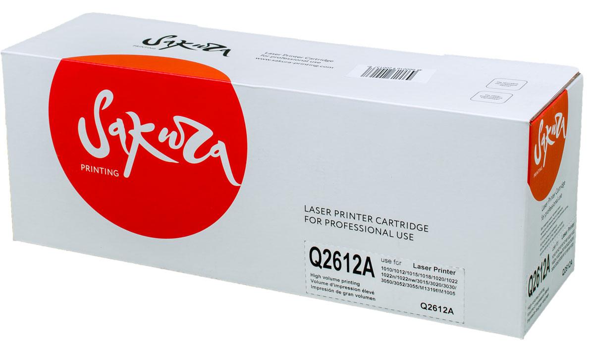 Sakura Q2612A, Black тонер-картридж для HP LaserJet 1010/1020/1022/3015/3020/3030/3050/M1319f/M1005SAQ2612AТонер-картридж Sakura Q2612A для лазерных принтеров HP LaserJet 1010/1020/1022/3015/3020/3030/3050/M1319f/M1005 является альтернативным решением для замены оригинальных картриджей. Он печатает с тем же качеством и имеет тот же ресурс, что и оригинальный картридж. В картриджах компании Sakura используется химический синтезированный тонер, который в отличие от дешевого тонера из перемолотого полимера, не царапает, а смазывает печатающий вал, что приводит к возможности многократных перезаправок картриджей. Такой подход гарантирует долгий срок службы принтера, превосходное качество и стабильность печати. Тонер-картриджи Sakura производятся при строгом соответствии стандартам ISO 9001 и ISO 14001, что подтверждено международными сертификатами.