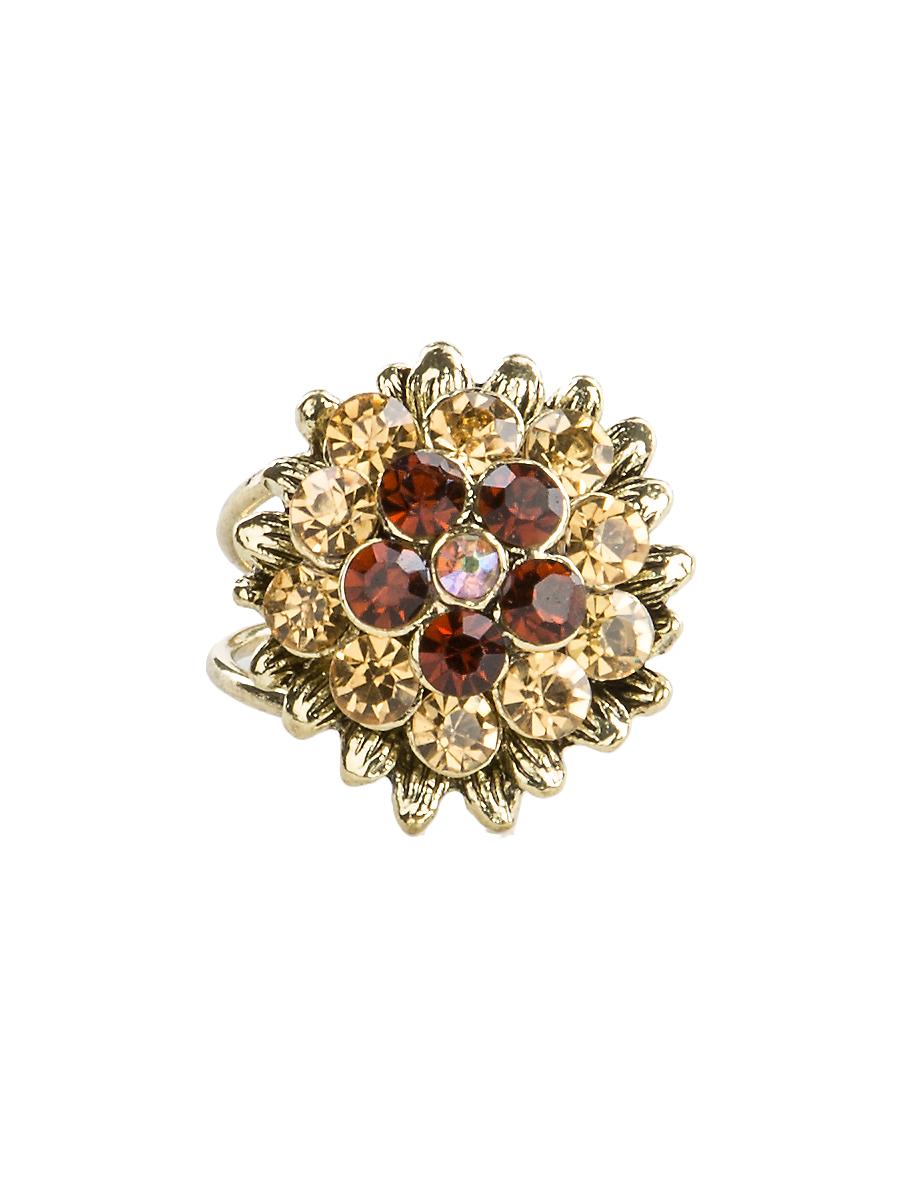 Кольцо для платка Charmante, цвет: янтарный. ZK047Кольцо для платкаОригинальное кольцо для платка Charmante выполнено из металла. Кольцо декорировано блестящими стразами. Аксессуар с внутренней стороны дополнен кольцами-держателями.Стильное кольцо придаст вашему образу изюминку и подчеркнет индивидуальность.