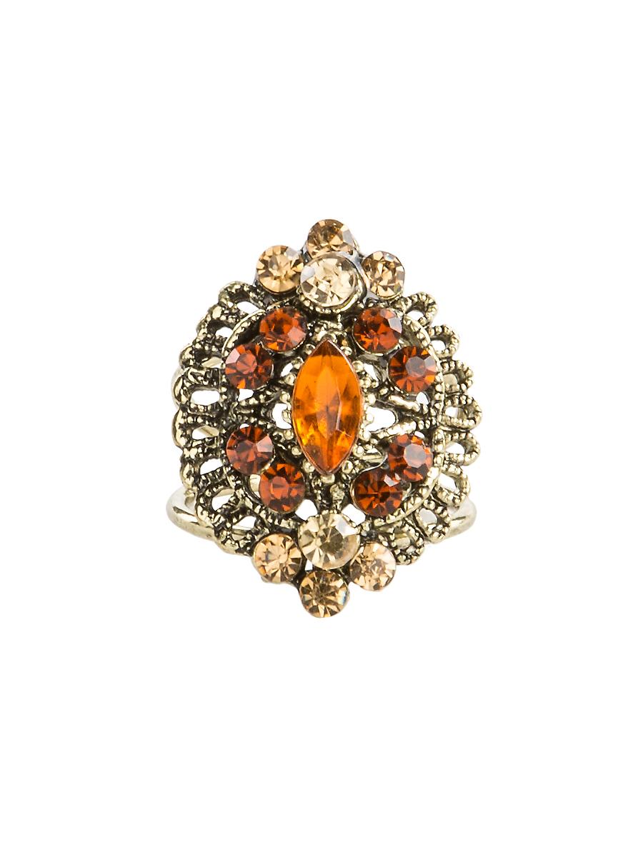 Кольцо для платка Charmante, цвет: янтарный. ZK048ZK048Оригинальное кольцо для платка Charmante выполнено из металла. Кольцо декорировано блестящими стразами. Аксессуар с внутренней стороны дополнен кольцами-держателями. Стильное кольцо придаст вашему образу изюминку и подчеркнет индивидуальность.