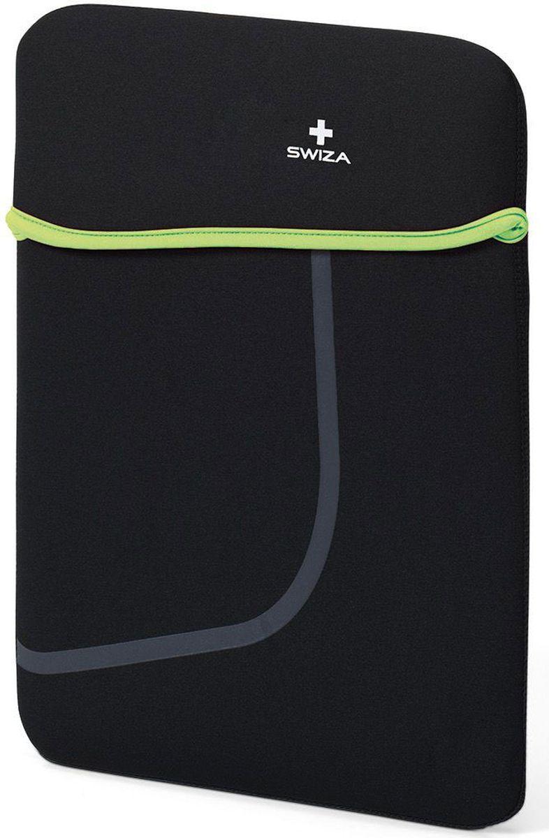"""Чехол для планшета SWIZA """"Moranda"""", цвет: черный, зеленый, 13"""""""