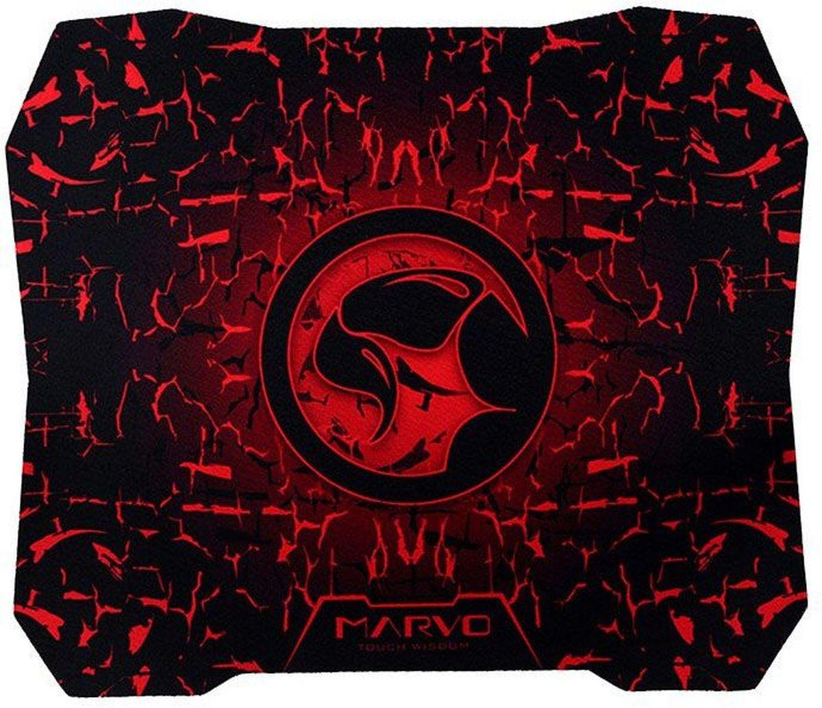 Marvo G1, Black Red игровой коврик для мышиG1