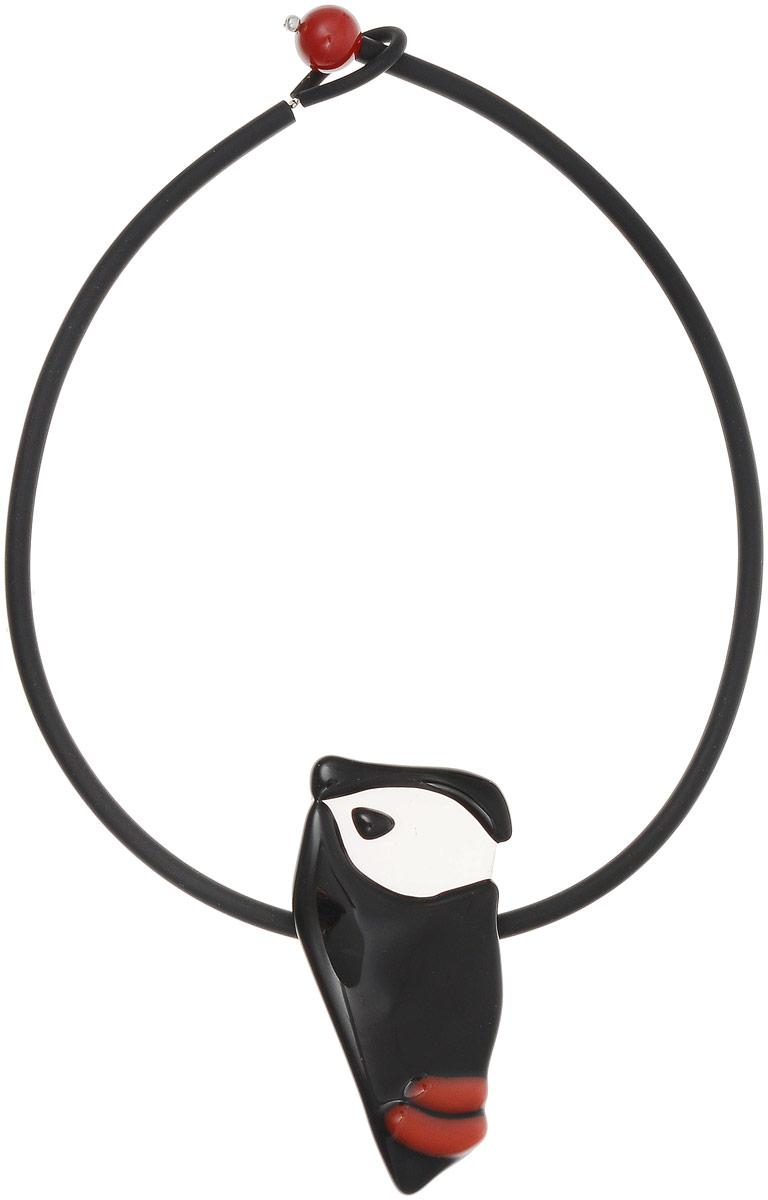 Колье Портрет. Муранское стекло, каучук, ручная работа. Murano, Италия (Венеция)СМЦ36-8-956Колье Портрет. Муранское стекло, каучук, ручная работа. Murano, Италия (Венеция). Размер: полная длина 45 см. Каждое изделие из муранского стекла уникально и может незначительно отличаться от того, что вы видите на фотографии.