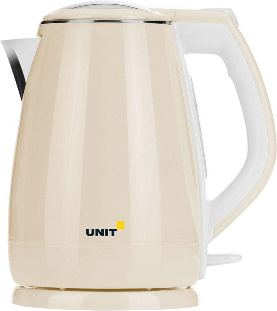 Unit UEK-268, Beige чайник электрическийCE-0379508Электрический чайник Unit UEK-268 прост в управлении и долговечен в использовании. Изготовлен из высококачественных материалов. Прозрачное окошко позволяет определить уровень воды. Мощность 2200 Вт быстро вскипятит 1,8 литра воды. Беспроводное соединение позволяет вращать чайник на подставке на 360°. Двухслойный корпус дольше удерживает тепло воды. Для обеспечения безопасности при повседневном использовании предусмотрены функция автовыключения, а также защита от включения при отсутствии воды.