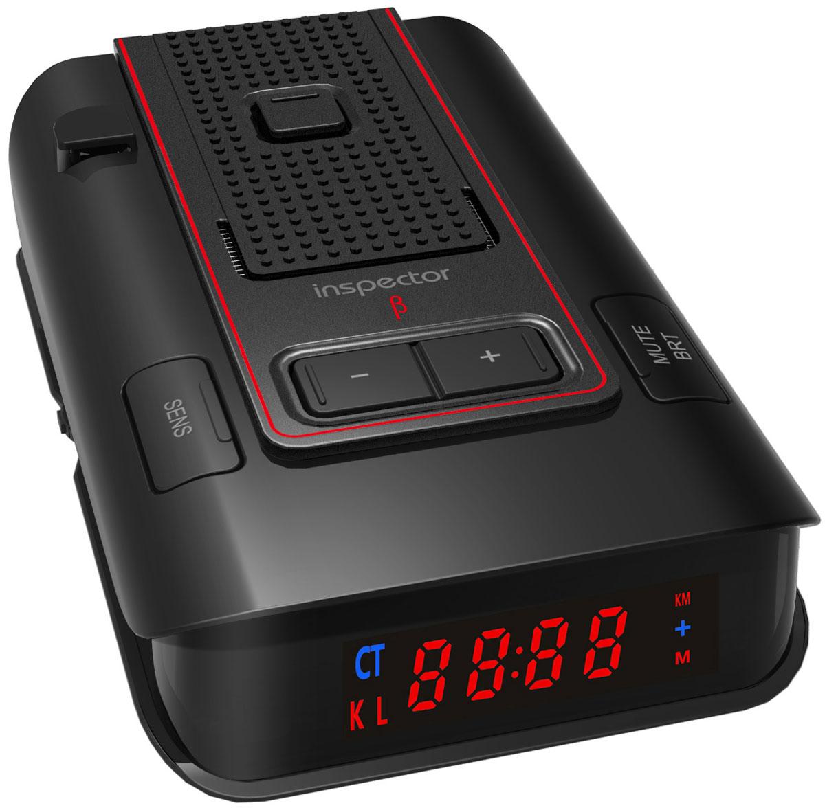 Inspector RD X3 BETA, Black радар-детекторRD X3 BETAInspector RD X3 BETA - это высокотехнологичное устройство, включающее в себя высококачественный радар-детектор для обнаружения сигналов радаров ГИБДД и GPS-информатор с широким функционалом и обновляемой базой GPS координат.Радар-детектор - устройство, позволяющее определить сигнал радара ГИБДД, который используется для определения скорости движения вашего автомобиля. Такое предупреждение позволит вам заблаговременно сбросить скорость вашего автомобиля в случае, если она превышает допустимую правилами данного участка движения, и избежать штрафа за нарушение.GPS-информатор - устройство, предназначенное для заблаговременного оповещения о стационарных объектах контроля скорости, благодаря внесенной в память устройства базе координат. Эта база данных является обновляемой и содержит координаты стационарных, малошумных радаров, безрадарных комплексов видеофиксации типа Автодория, камер контроля полосы движения для общественного транспорта и другого.Индикация мощности сигнала радараФильтр ложных срабатыванийРежимы: Трасса/Город 1/Город 2/Город 3/IQАвтоприглушение громкостиВыборочное отключение диапазоновПамять настроекВозможность обновления ПО через USBВыборочное отключение объектов БДВозможность сохранения дополнительных объектовОтображение расстояния до объекта оповещенияНастраиваемые пороги скоростиНастраиваемая дальность оповещенийПриоритет оповещений