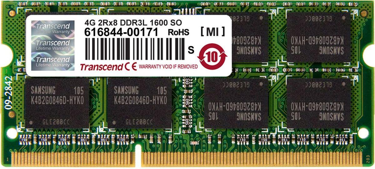 Transcend DDR3L SODIMM 4GB 1600МГц модуль оперативной памятиTS512MSK64W6NМиниатюрные размеры модуля памяти Transcend DDR3L SODIMM 4GB делают его подходящим для использования в ноутбуках. Частота 1600 МГц обеспечивает его высокую производительность (этот параметр легко можно отследить с помощью стандартного теста, проведенного любой операционной системой). Установка проста, не занимает много времени и не требует от вас наличия специальных знаний и умений. Модуль изготовлен из высококачественного текстолита, благодаря чему обладает очень высокой прочностью и долговечностью. Количество ранков: 2