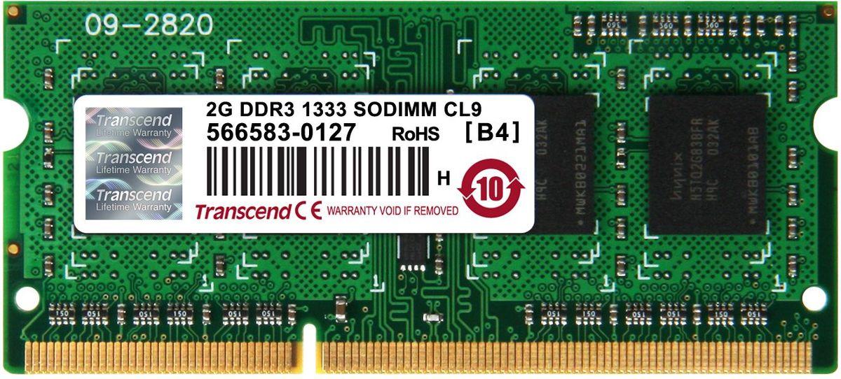 Transcend DDR3 SODIMM 2GB 1333МГц модуль оперативной памятиTS256MSK64V3NМиниатюрные размеры модуля памяти Transcend DDR3 SODIMM 2GB делают его подходящим для использования в ноутбуках. Частота 1333 МГц обеспечивает его высокую производительность (этот параметр легко можно отследить с помощью стандартного теста, проведенного любой операционной системой). Установка проста, не занимает много времени и не требует от вас наличия специальных знаний и умений. Модуль изготовлен из высококачественного текстолита, благодаря чему обладает очень высокой прочностью и долговечностью. Количество ранков: 1