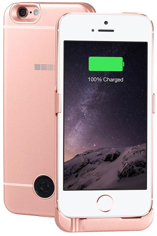 Interstep чехол-аккумулятор для Apple iPhone 5/5s/SE, Rose (2200 мАч)45547Чехол-аккумулятор Interstep - стильный и надежный аксессуар для Apple iPhone 5/5s/SE толщиной всего в 5 мм. Компактные размеры, элегантный дизайн и прочный материал корпуса позволят Interstep не только надежно защитить смартфон от ударов, грязи и царапин, но придадут телефону стильный внешний вид.Встроенный аккумулятор емкостью в 2200 мАч обеспечит смартфон своевременной подзарядкой в самые нужные моменты его использования. Заряжать телефон можно, не извлекая его из чехла, просто подключив адаптер смартфона к чехлу-аккумулятору.