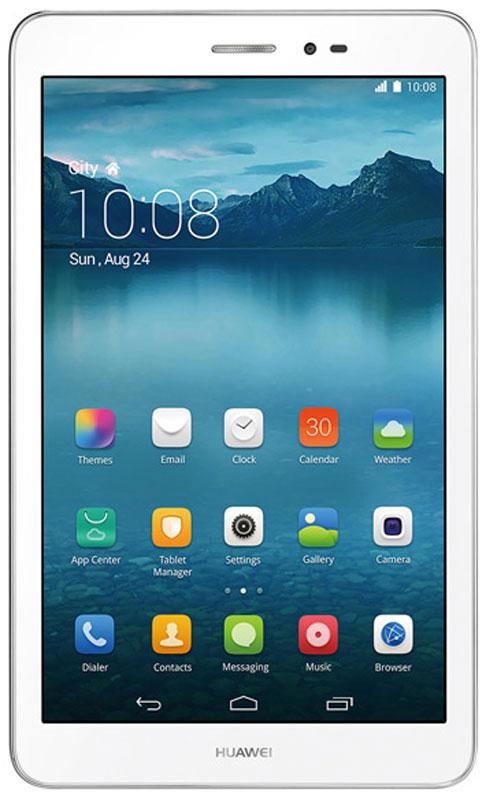 Huawei MediaPad T1 8.0 LTE (T1-821L), Silver53015433Huawei MediaPad T1 8.0 LTE - универсальный планшет в прочном алюминиевом корпусе. Это мобильное устройство хорошо подходит и для веб-серфинга, и для развлечений, и для общения, его можно брать с собой в поездки.Четырехъядерный процессор Qualcomm Snapdragon MSM8212 с тактовой частотой 1,2 ГГц обеспечивает быстрый запуск и стабильную работу офисных, мультимедийных, игровых приложений.