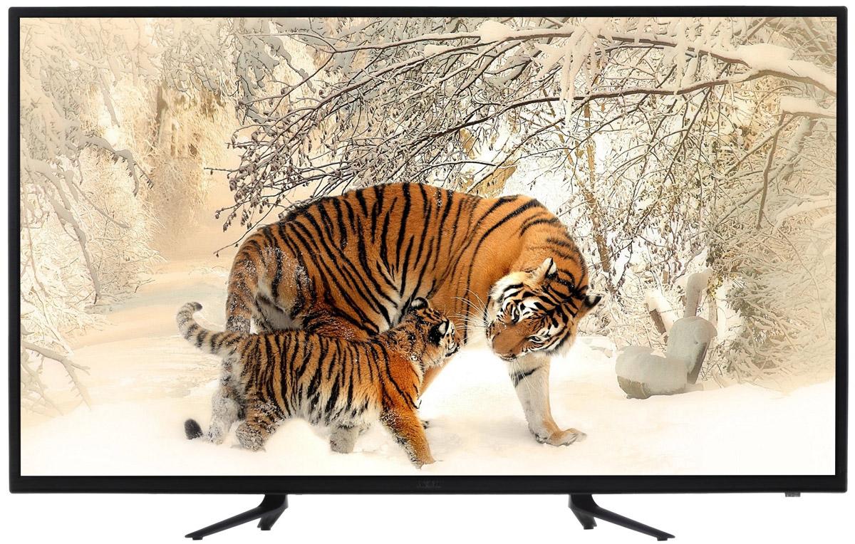 Akai LEA-49K40M телевизорLEA-49K40MAkai LEA-49K40M - телевизор, который поддерживает разрешение Full HD (1920 х 1080). Высокие показатели яркости (230 кд/м2.) и контрастности (1200:1), в сочетании со светодиодной подсветкой Direct LED, обеспечивают изображение высокой четкости с естественной цветопередачей. Качество изображения улучшает также система шумоподавления. Акустическая система телевизора представляет собой пару динамиков каждый мощностью по 9 Вт. Производится автоматическое ограничение уровня громкости (AVL). Телевизор Akai LEA-49K40M оснащен одним тюнером, принимающим системы как аналогового (PAL/SECAM BG/DK/I) , так и цифрового (DVB-Т/Т2/C/S2) вещания. В памяти представленной модели сохраняется до 6299 телеканалов. Есть возможность сделать запись телепрограммы цифрового вещания на USB-носитель, используя таймер. Также доступна функция Time-Shift, делающая паузу в просмотре телепередачи для последующего возобновления в удобное время. Интерфейс USB и...
