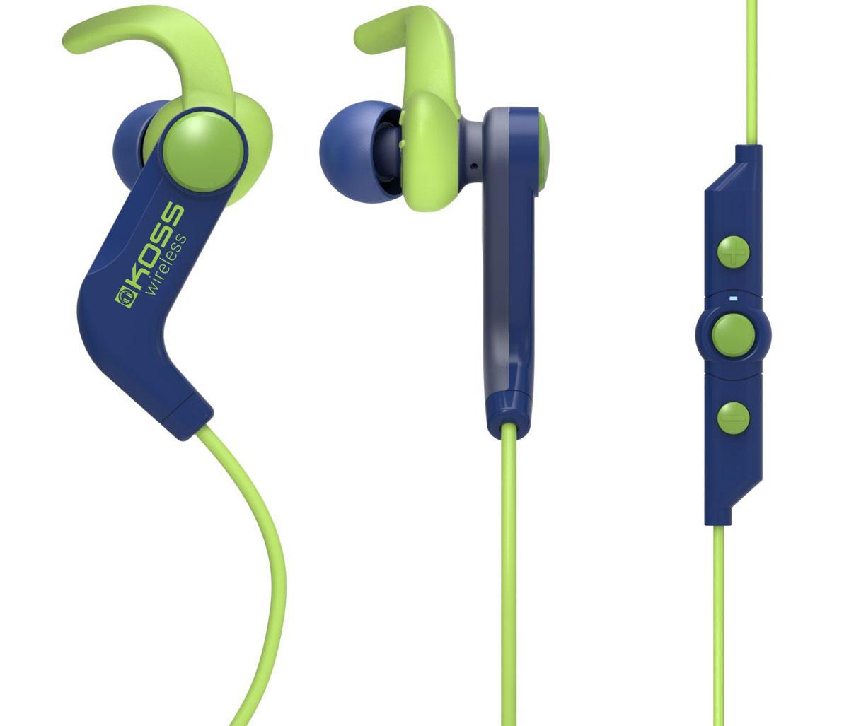 Koss BT190iB, Blue наушники15119063Koss BT190i – это беспроводные спортивные наушники с функцией гарнитуры. Благодаря специальному внутриушному креплению и набору амбушюр разных размеров в комплекте наушники всегда останутся на месте, какой бы активный образ жизни вы ни вели. Пульт управления с микрофоном на кабеле позволит быстро ориентироваться в плейлисте, воспроизводить или приостанавливать музыку, регулировать громкость, а также отвечать на входящие звонки одним касанием. Функция гарнитуры До 4 часов работы при средней громкости До 80 часов в режиме ожидания Встроенный литий-ионный аккумулятор Три пары амбушюр разных размеров в комплекте Влагоустойчивые