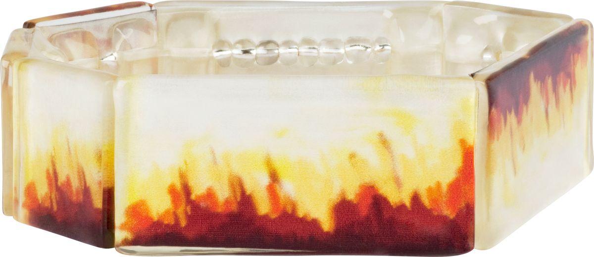 Браслет Lalo Treasures, цвет: коричневый, желтый. B2522Глидерный браслетОригинальный браслет Lalo Treasures выполнен из ювелирной смолы и металлического сплава. Браслет имеет один декоративный элемент.Стильное украшение поможет дополнить любой образ и привнести в него завершающий яркий штрих.