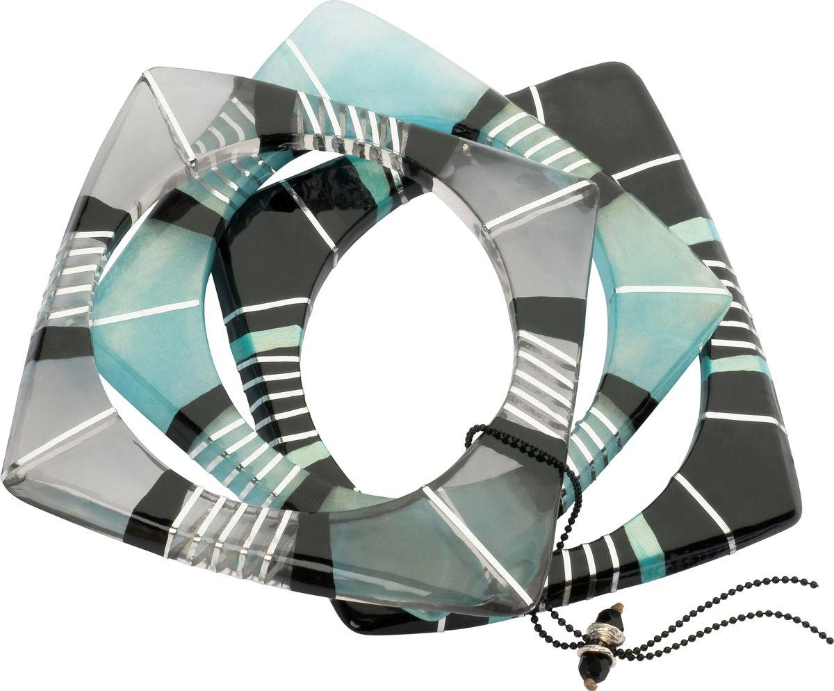 Браслет Lalo Treasures, цвет: серый, голубой. Bn2481Глидерный браслетОригинальный браслет Lalo Treasures выполнен из ювелирной смолы и металлического сплава. Декоративные элементы собраны на серебристую цепочку с бусинами.Стильное украшение поможет дополнить любой образ и привнести в него завершающий яркий штрих.
