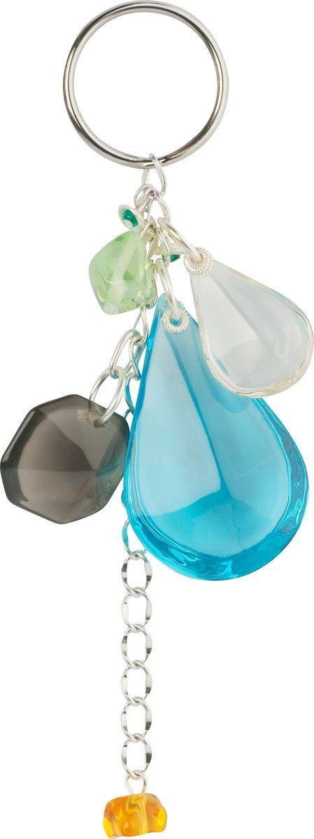 Брелок Lalo Treasures, цвет: голубой. KR4838Брелок для ключейБрелок Lalo Treasures изготовлен из ювелирной смолы ярких цветов. Он оформлен подвесными камушками и крепится к кольцу с помощью крепкого шнурка.Оригинальный брелок подчеркнет вашу индивидуальность, а также станет отличным подарком для любительниц модных новинок в мире аксессуаров.