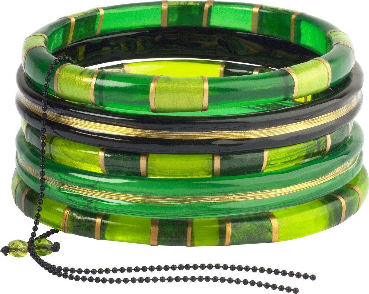 Браслет Lalo Treasures, цвет: зеленый. B2442/2B2442/2Оригинальный браслет Lalo Treasures выполнен из ювелирной смолы и металлического сплава. Декоративные элементы собраны на металлическую цепочку с бусинами. Стильное украшение поможет дополнить любой образ и привнести в него завершающий яркий штрих.