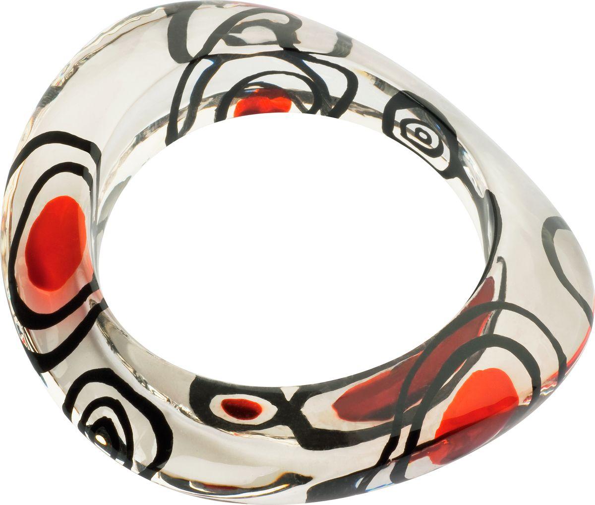 Браслет Lalo Treasures, цвет: прозрачный, красный. B2448/1sB2448/1sОригинальный браслет Lalo Treasures выполнен из ювелирной смолы и металлического сплава.Браслет состоит из одного декоративного элемента неправильной формы. Стильное украшение поможет дополнить любой образ и привнести в него завершающий яркий штрих.