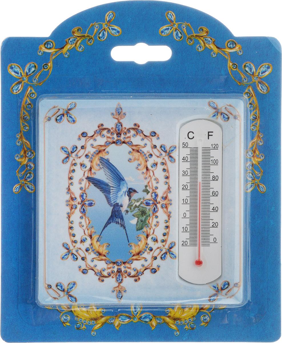 Термометр декоративный Magic Home, 10 х 10 см. 4341543415Комнатный термометр Magic Home, изготовленный из фаянса, декорирован оригинальным изображением. Термометр имеет шкалу измерения температуры по Цельсию (-20°С - +50°С) и по Фаренгейту (-0°F - +120°F).Благодаря такому термометру вы всегда будете точно знать, насколько тепло в помещении. Изделие оснащено специальной петелькой для подвешивания и ножкой для расположения на столе. Оригинальный дизайн не оставит равнодушным никого. Термометр удачно впишется в обстановку жилого помещения.