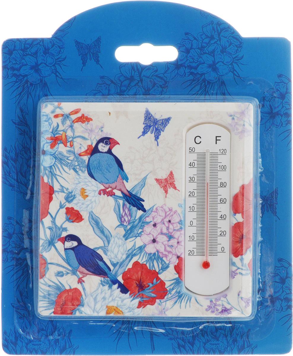 Термометр декоративный Magic Home, 10 х 10 см. 4340943409Комнатный термометр Magic Home, изготовленный из фаянса, декорирован оригинальным изображением. Термометр имеет шкалу измерения температуры по Цельсию (-20°С - +50°С) и по Фаренгейту (-0°F - +120°F). Благодаря такому термометру вы всегда будете точно знать, насколько тепло в помещении. Изделие оснащено специальной петелькой для подвешивания и ножкой для расположения на столе. Оригинальный дизайн не оставит равнодушным никого. Термометр удачно впишется в обстановку жилого помещения.