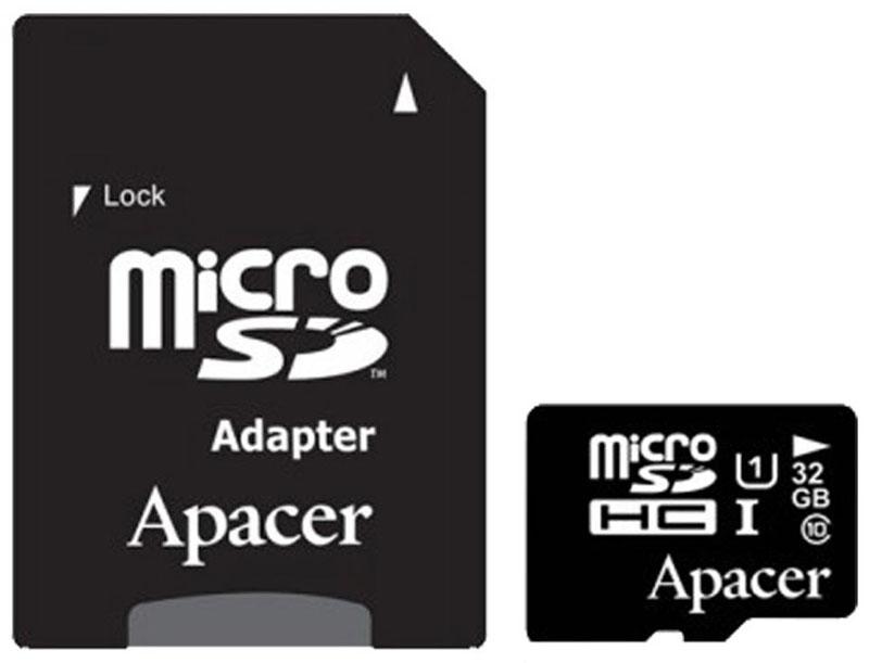 Apacer microSDHC Class 10 UHS-I 32GB карта памяти с адаптеромAP32GMCSH10U1-RКарта памяти Apacer microSDHC Class 10 UHS-I - бескомпромиссный выбор для мобильных игроков. Непревзойденный стандарт скорости приносит невиданные ранее показатели скорости чтения и записи данных до 95 МБ/сек и 45 МБ/сек соответственно, что позволяет в полной мере оценить необычайную скорость и мощность как при записи серий фотографий или видео в высоком разрешении, так и при редактировании фрагментов видео или фотографий непосредственно на устройстве, а так же воспроизведении Full HD контента. Если вы постоянно работаете с мобильными приложениями, любите создавать и обрабатывать аудио и видео контент непосредственно на мобильном устройстве, или же вам просто хочется плавной и стабильной работы на планшетном ПК или смартфоне, то эта превосходные карты памяти просто созданы для вас.