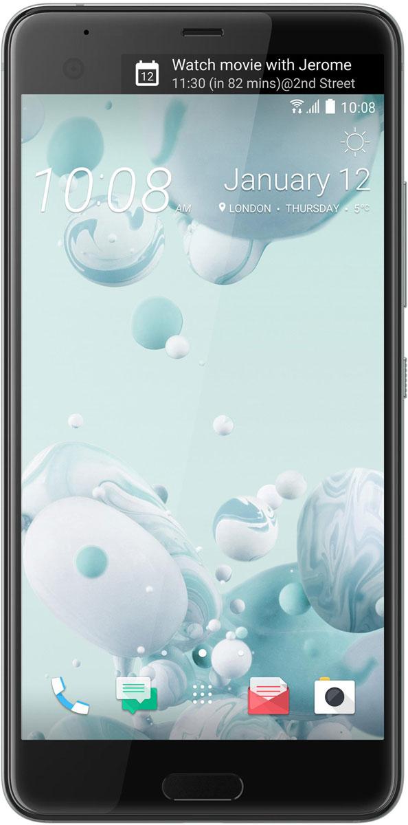 HTC U Ultra 64GB, Ice White99HALU071-00HTC U Ultra - смартфон с большим экраном 5,7 станет яркой частью вашей жизни. Его уникальный переливающийся дизайн создан, чтобы дать свободу самовыражения. Его инновационный двойной экран ставит ваши приоритеты и удобство во главу угла. При изготовлении корпуса используется особый процесс формовки стекла по краям устройства с применением экстремального давления и высокой температуры. Это не только создает идеальную гармонию стеклянной и металлической поверхностей, но и имитирует эффект поверхностного натяжения, свойственный жидкости. HTC Sense Companion - верный спутник, который постоянно обучается вашим привычкам и действиям, которые вы совершаете каждый день. Он может посоветовать одеться потеплее и выехать на работу чуть раньше, если прогноз погоды указывает на возможность снегопада; он напомнит взять с собой внешний аккумулятор, если в ваших планах значится длительная поездка; он подскажет отличный ресторан в незнакомом городе и поможет забронировать...