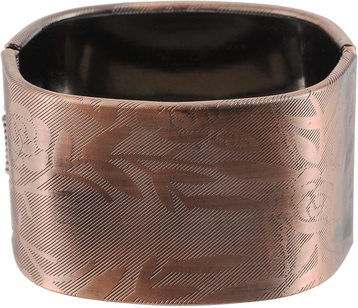 Браслет женский Art-Silver, цвет: медный. 50-03506053-23250-03506053-232Браслет Art-Silver выполнен из бижутерного сплава и оформлен гравировкой в виде цветов. Модель застегивается на шарнирный замок.