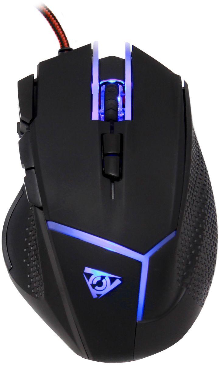 Qcyber Alien игровая лазерная мышьQC-02-006DV01Qcyber Alien, игровая лазерная мышь 10000 DPI, 9 программируемых кнопок, регулируемый вес, USB2.0, настраиваемая подсветка, П.О.